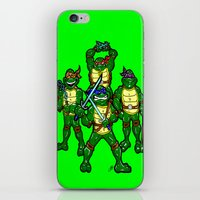 teenage mutant ninja turtles iPhone & iPod Skins featuring Teenage Mutant Ninja Turtles by beetoons
