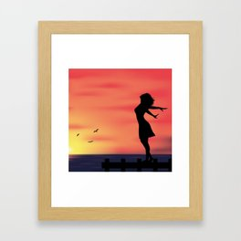 Sunset Silhouette Framed Art Print