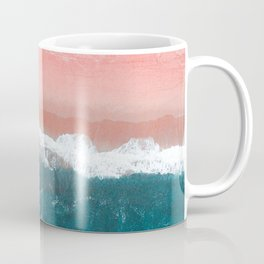 Turquoise Sea Pastel Beach II Coffee Mug