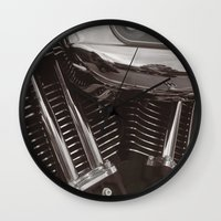 motorcycle Wall Clocks featuring Motorcycle by Jaci Wandell