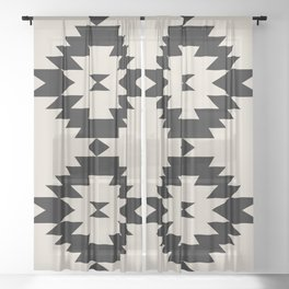 Southwestern Minimalism - Black Sheer Curtain