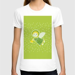 Angel on the green T-shirt