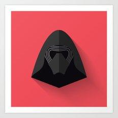 Kylo Ren Flat Design Art Print