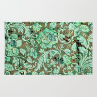 flower pattern Area & Throw Rugs featuring Flower pattern by nicky2342