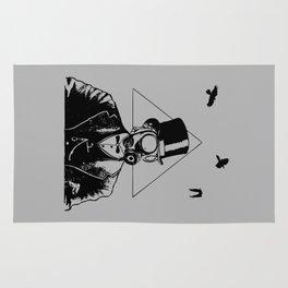 Gentleman Gas Mask Rug