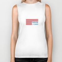 house of cards Biker Tanks featuring House of cards by fofiane