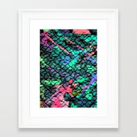 quilt Framed Art Prints featuring Quilt by Simona Sacchi