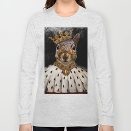 Lord Peanut (King of the Squirrels!) Long Sleeve T-shirt