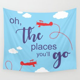 Oh, the places you'll go - Inspirational Quote for Room Decor #Society6 Wall Tapestry