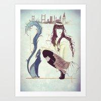 istanbul Art Prints featuring Istanbul by Nila Dedeoglu