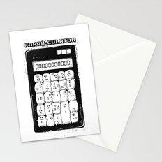 Kawaii Calculator Stationery Cards