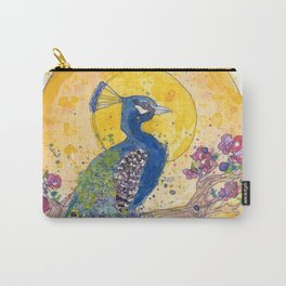 Peacock in the Sun Carry-All Pouch