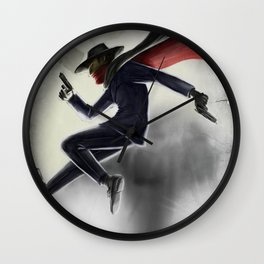 The Shadow Knows Wall Clock