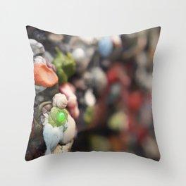 A Work of Art Bubblegum Alley Throw Pillow