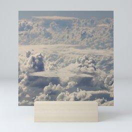 Magical White Cotton Clouds in Mystical Blue Sky Mini Art Print