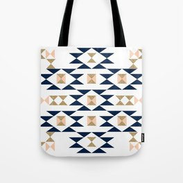 Jacs - Modern pattern design in aztec themed pattern navajo print textile cute trendy girl Tote Bag