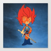 thundercats Canvas Prints featuring Lion-o by Christophe Chiozzi