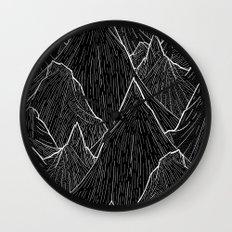The Dark Peaks Wall Clock