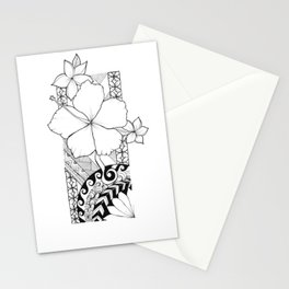 Hawaiian Style Hibiscus Stationery Cards