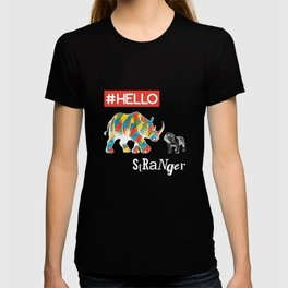 New Friend Rhino Funny Bulldog-Hello Stranger T-shirt