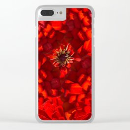 Zinnias 3 Clear iPhone Case