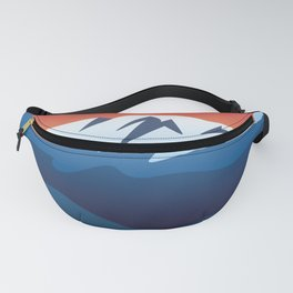Mountains Valley and Red Rocks Scenic Landscape Fanny Pack