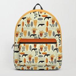 African Masks Pattern Backpack