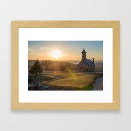 A Golfers Paradise - Top of the Rock - Branson Missouri Framed Art Print