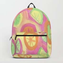 Fresh Citrus Watercolor Fruits Backpack