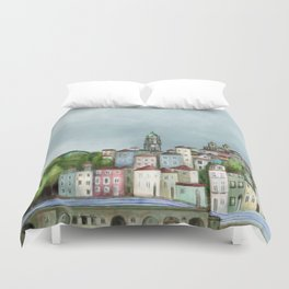 Porto landscape Duvet Cover