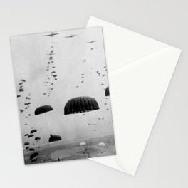 Allied Airborne Troops Parachuting - WWII Stationery Cards