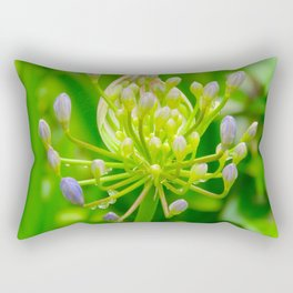 """Rain droplets on Blue"" by ICA PAVON Rectangular Pillow"