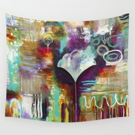 """""""Spirit Works"""" Original Painting by Flora Bowley Wall Tapestry"""
