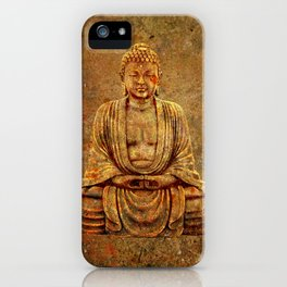 Sand Stone Sitting Buddha iPhone Case
