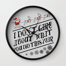 I dont care about what you did this year Wall Clock