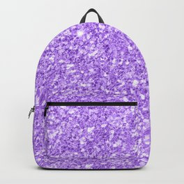 Purple glitter & sparkles texture print Backpack
