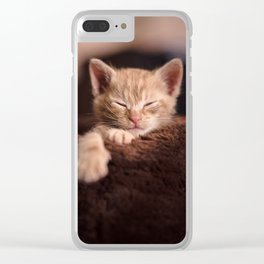 Leo Mar Suerte is sleepy. Clear iPhone Case