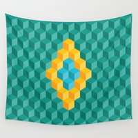 brazil Wall Tapestries featuring Building Up Brazil by Davi Cosso