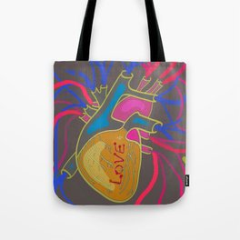 Love Pop Heart Tote Bag