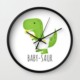 Baby-saur Wall Clock