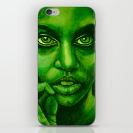 don't panic! green iPhone Skin