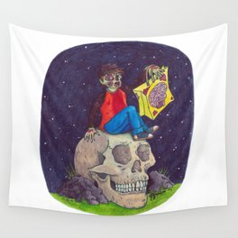 HALLOWEEN - Zombie-Boy with Skull  Wall Tapestry