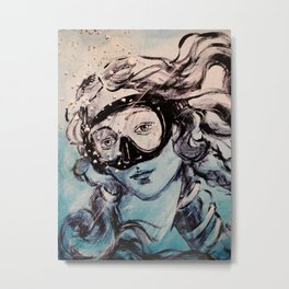 Underwater Birth of Venus Metal Print