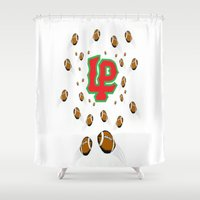 peru Shower Curtains featuring LaSalle Peru High School Football by Ric Soens