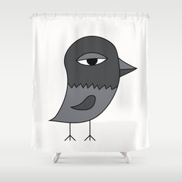 Big Eye Pigeon Shower Curtain