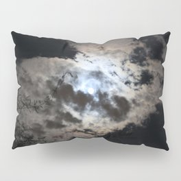 Harvest Moon behind the clouds Pillow Sham