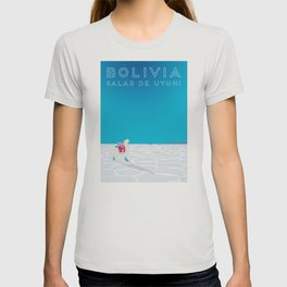 Bolivia Salt Flats Travel Poster T-shirt