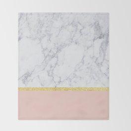 Marble Peach Throw Blanket