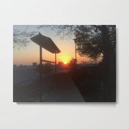 Japanese Temple Sunset--2015 Metal Print