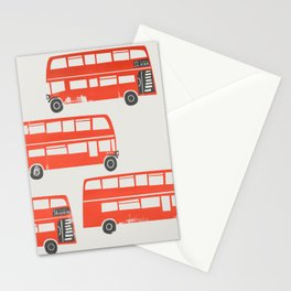 London Double Decker Red Bus Stationery Cards